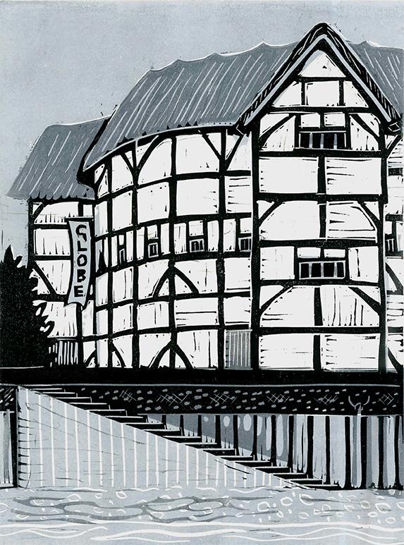 Shakespeare's Globe, grey