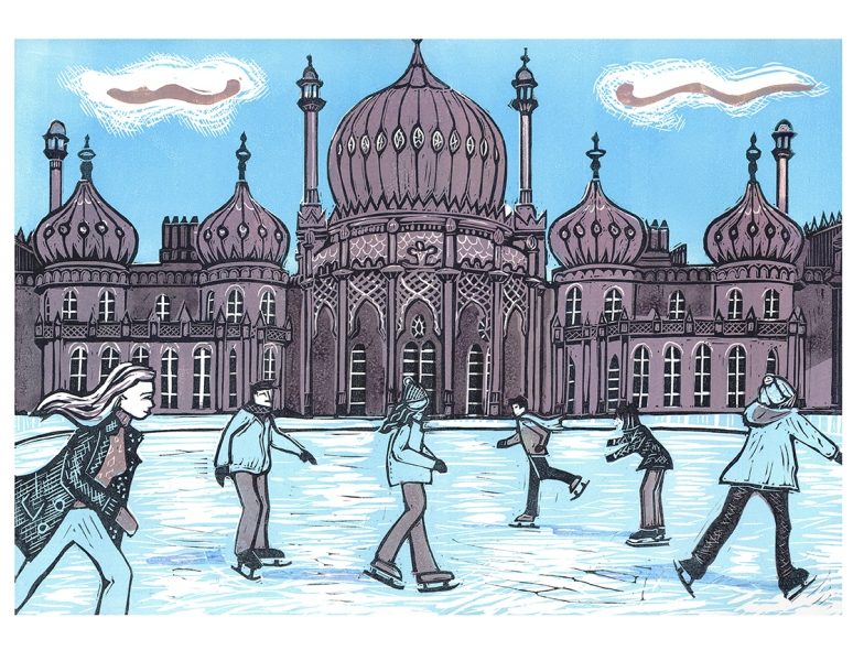 Royal Pavilion Ice Rink Brighton, blue