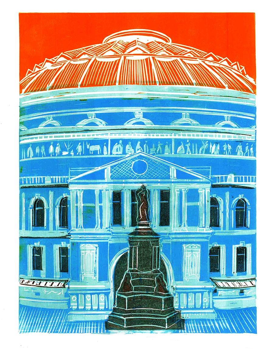 Royal Albert Hall, blue 2018