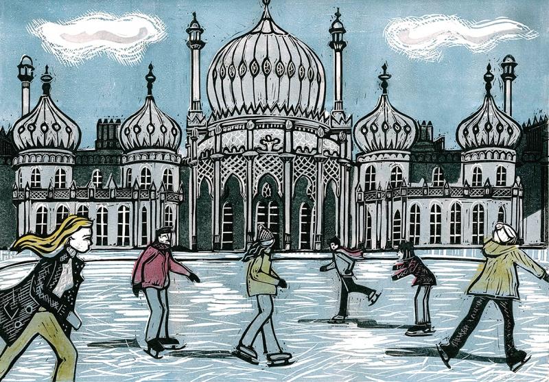 Royal Pavilion Ice Rink light blue