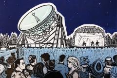 Bluedot Festival at Jodrell Bank, night sky