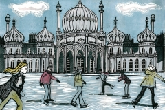 Royal Pavilion Ice Rink blue