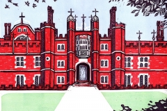 Hampton-Court-Palace-summer-linocut-by-Fiona-Horan-for-web