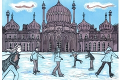 Royal Pavilion Ice Rink Brighton, blue