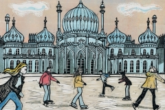 Royal Pavilion Ice Rink Brighton, pink